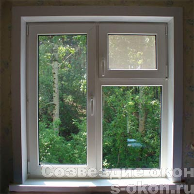 Пример окна ПВХ с форточкой