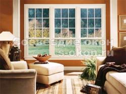 Окна со шпросами хорошо смотрятся и дома и в офисе