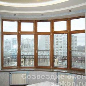 Окна из наборного массива сосны