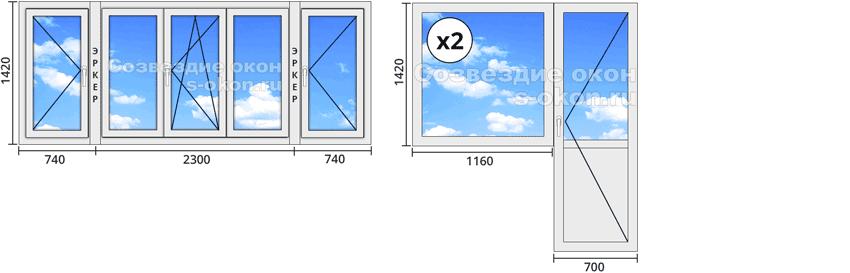 Стоимость пластиковых окон в доме П44Т