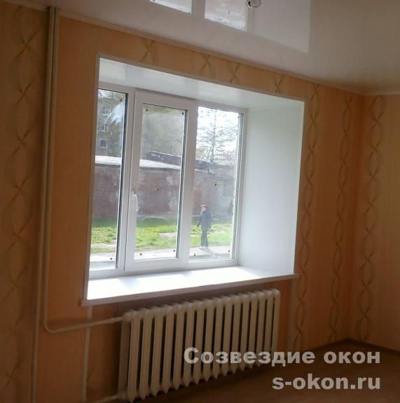 В сталинке окна
