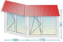Остекление балконов с крышей стоимость