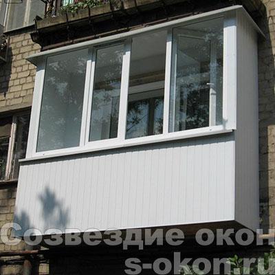 Остекление стеклопакетами балкона