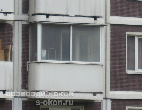 Пример остекления балкона копэ