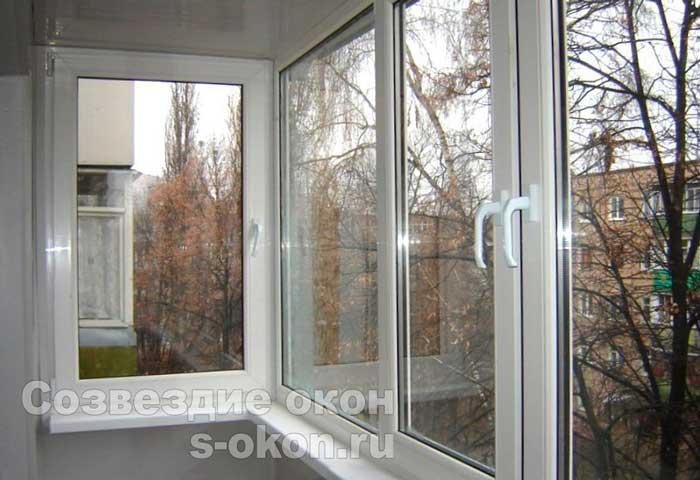 КОПЭ пример остекления балкона