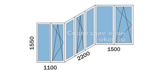 Цена остекления П3 балкона