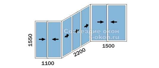 Цена остекления балкона П 3