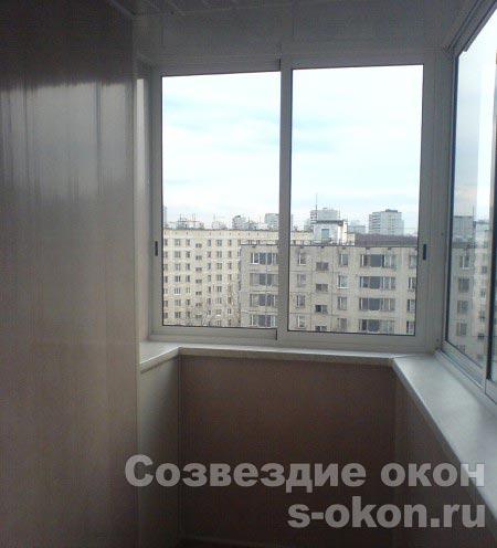 Пример остекления балконов п-3
