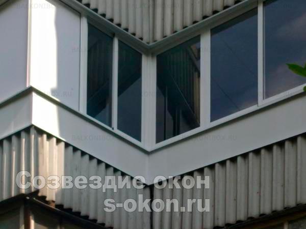 Застеклить балкон П44