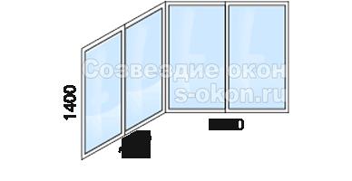 Цена остекления балкона П44 лодочка