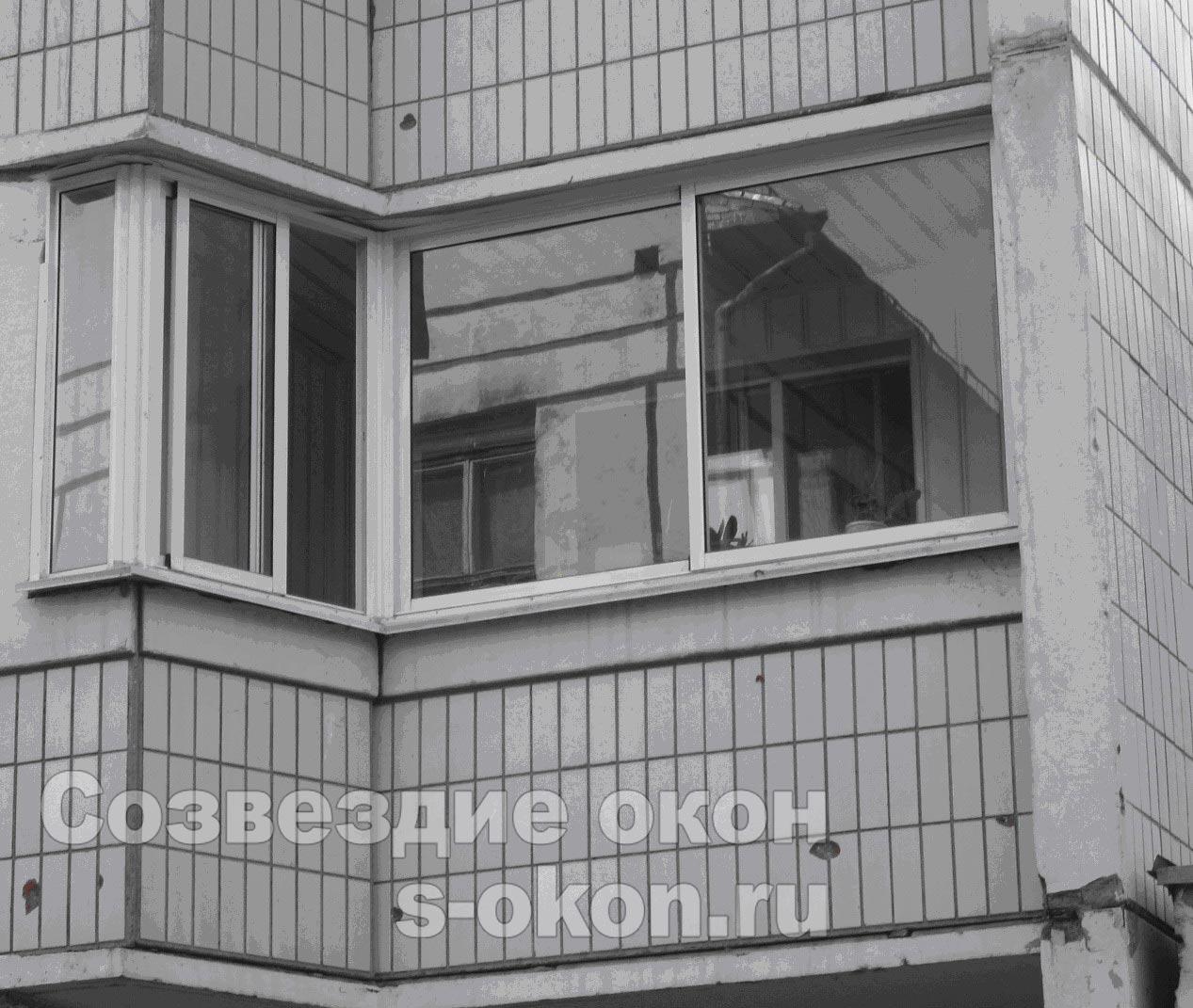 Остекление балкона п44. низкие цены!.