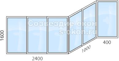 Стоимость остекления балкона П44Т сапожок