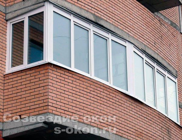 Остекление балкона серии п44т