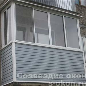 Отделка балкона в Москве