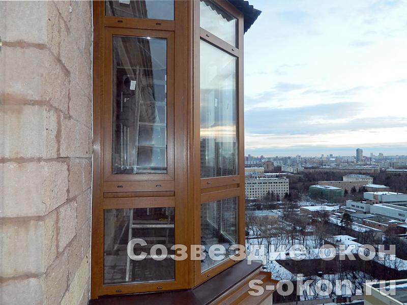 Остекление балкона панорамное