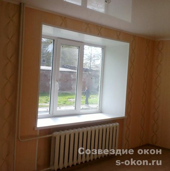 В кирпичном доме окна