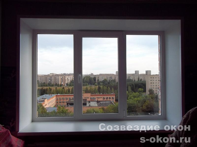В кирпичном доме окно