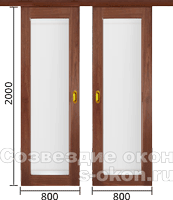 Раздвижные двери-купе на заказ