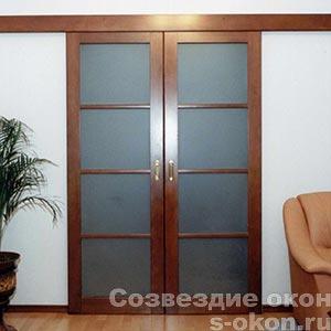 Раздвижные стеклянные двери-купе