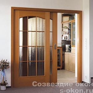 Разделить комнату раздвижными дверями