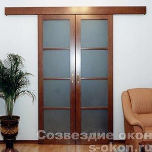 Раздвижные двери для зонирования пространства в комнате