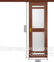 Раздвижные стеклянные двери в комнату