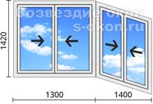 Цена на раздвижные пластиковые окна