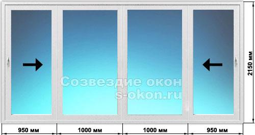 Цены на раздвижные стеклянные двери с фото
