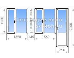 Окно и балконный блок в II-68