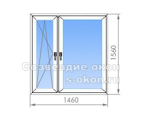Двухстворчатое окно в II-57