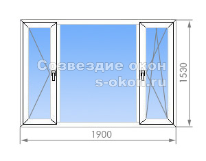 Треххстворчатое окно в II-18
