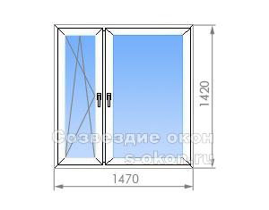 Двухстворчатое окно П-30