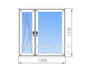 Двухстворчатое окно в кирпичных домах Тишинская