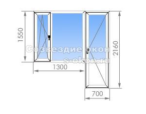 Балконный блок в кирпичных домах Смирновская