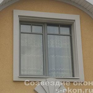 Фото пластикового окна серого цвета