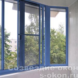 Окна синего цвета