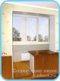 Частичное совмещение балкона с комнатой