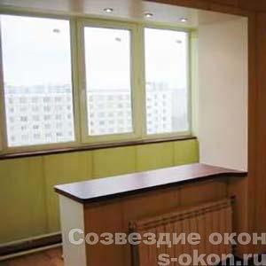 Совмещение балкона с кухней