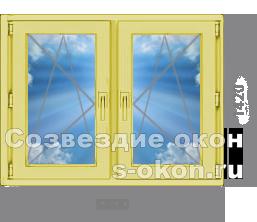 Двухстворчатое окно из сосны