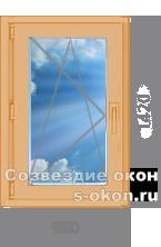 Одностворчатое окно из лиственницы