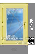 Одностворчатое окно из сосны