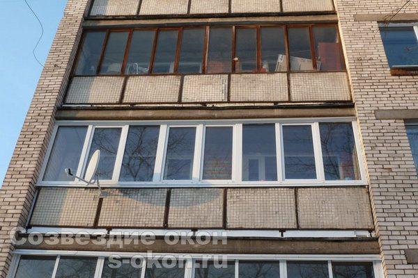 Теплые окна в лоджии