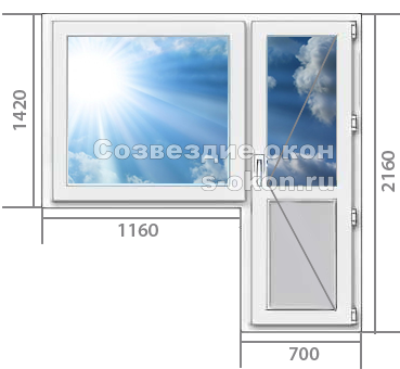 Цены на балконный блок с теплопакетом