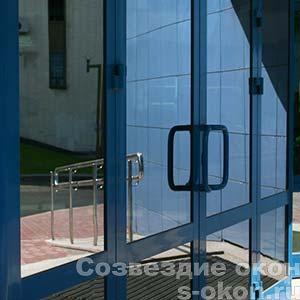 Двери из теплого алюминия
