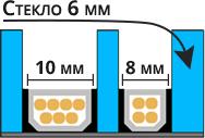 Двухкамерный стеклопакет с стеклом 6 мм