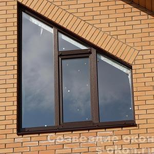 Фото трапециевидного окна