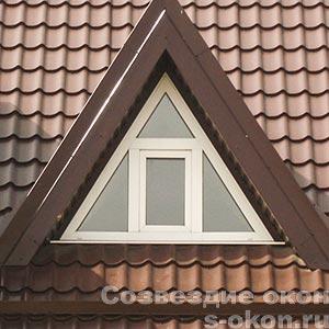 Фото треугольного окна