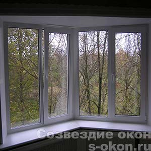 Угловое окно ПВХ