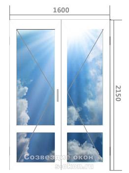 Цена входной алюминиевой двери со стеклопакетом