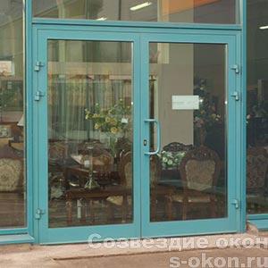 Фото алюминиевых дверей